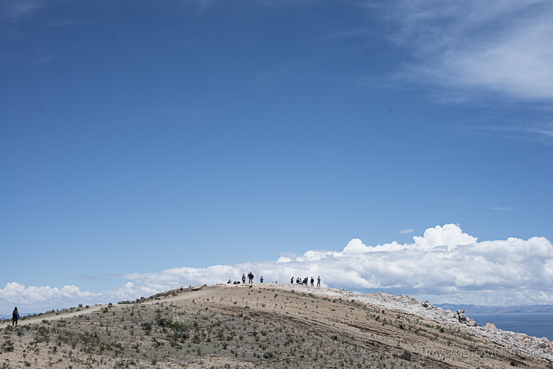 Bolivia - Hikers on Isla del Sol