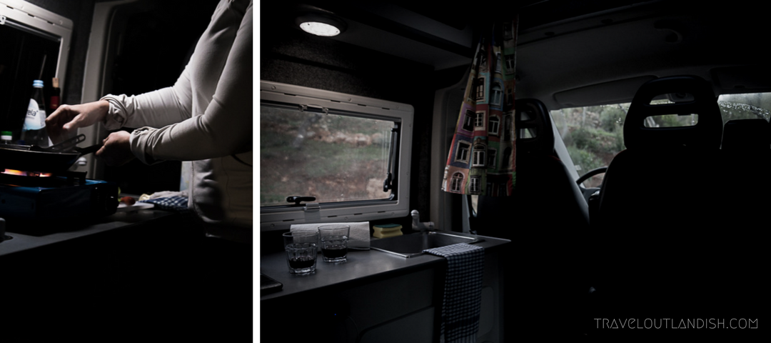 Portugal Campervan Hire - Inside the Van