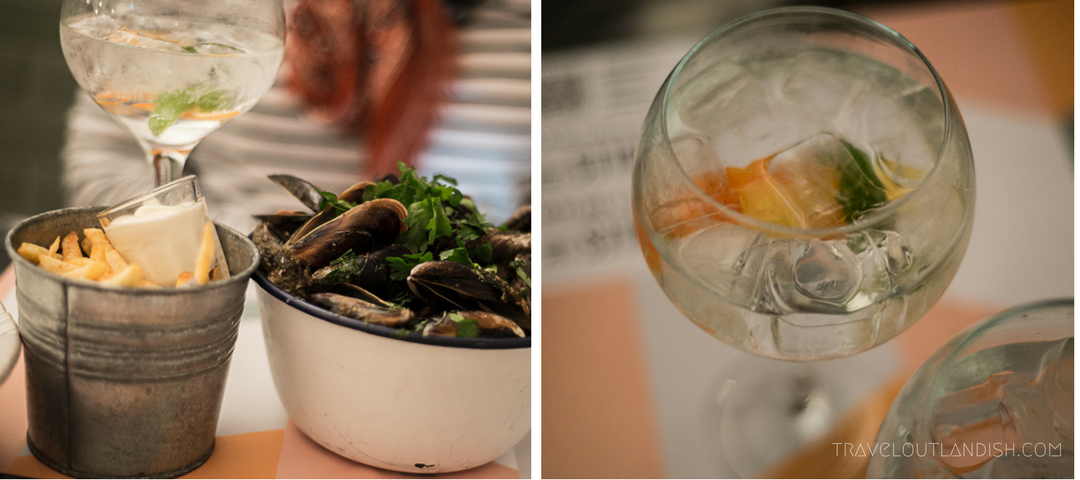 Restaurants in Cascais - Mussels & Gin