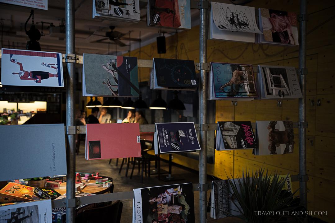 Hostels in Hamburg - Magazine Rack at Superbude St. Pauli