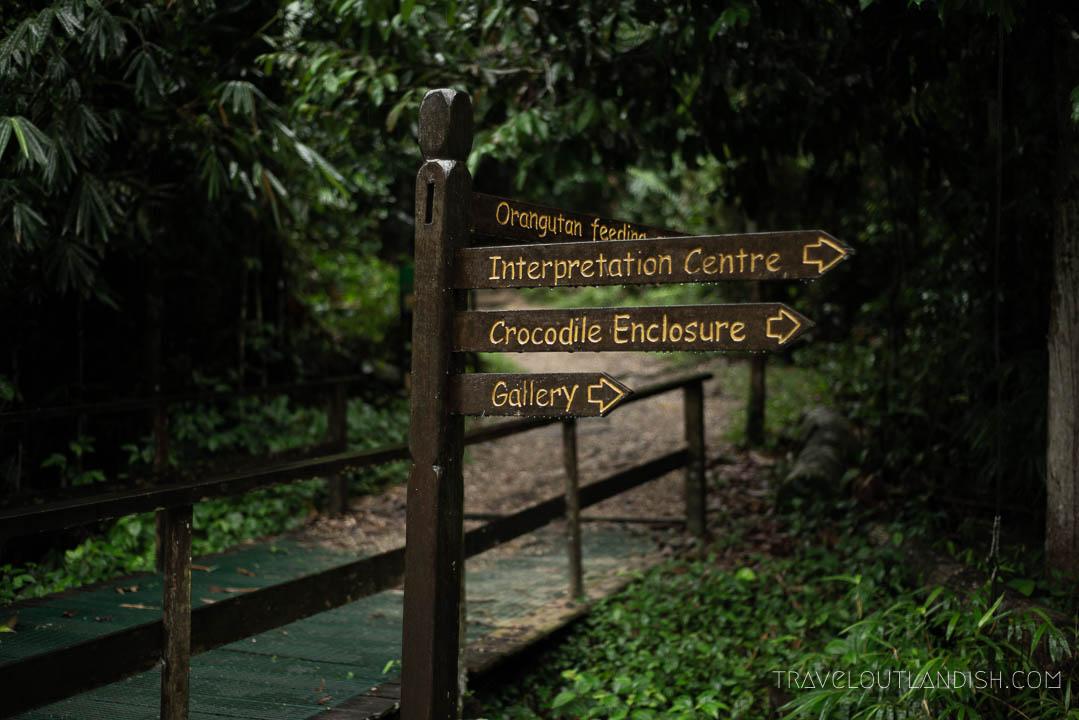 Semenggoh Wildlife Centre - Sign