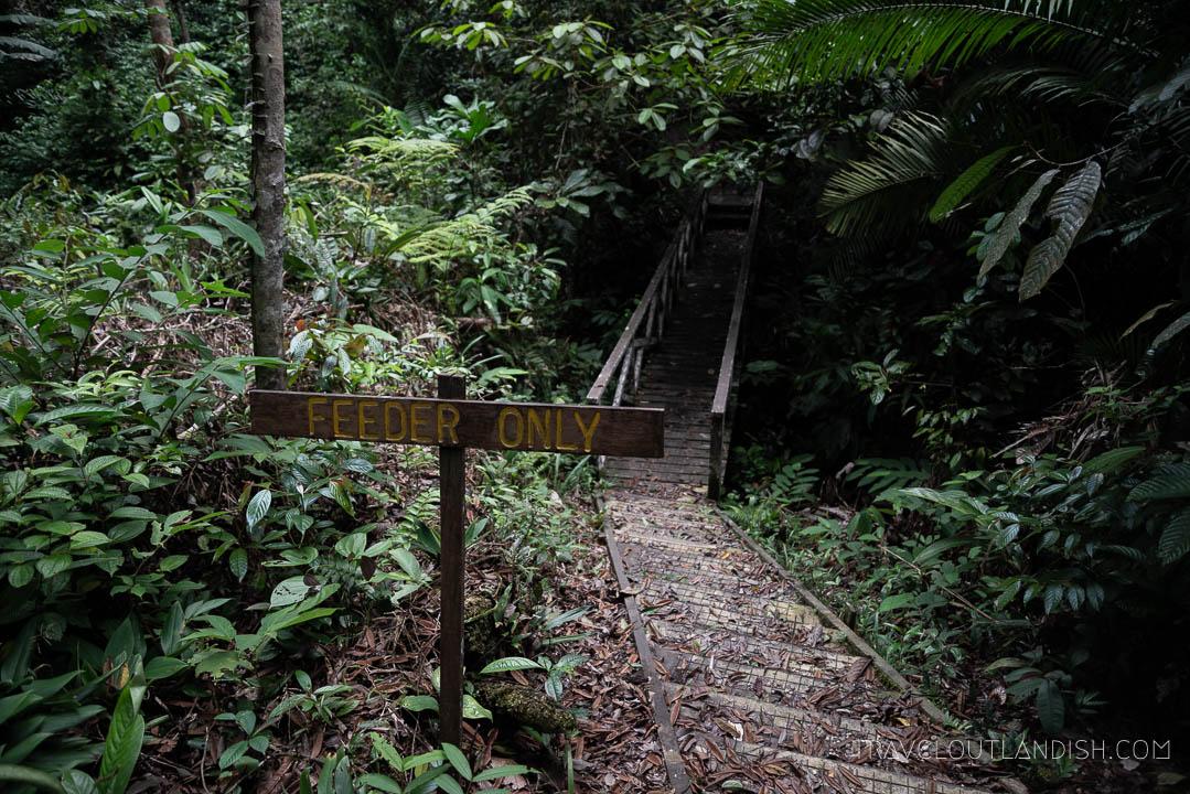 Semenggoh Wildlife Centre - Feeder Only Sign