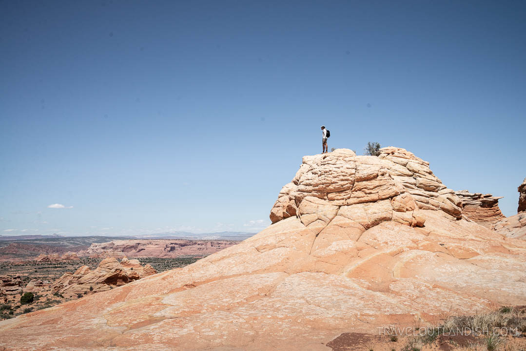 Taking in the view at Coyote Buttes South