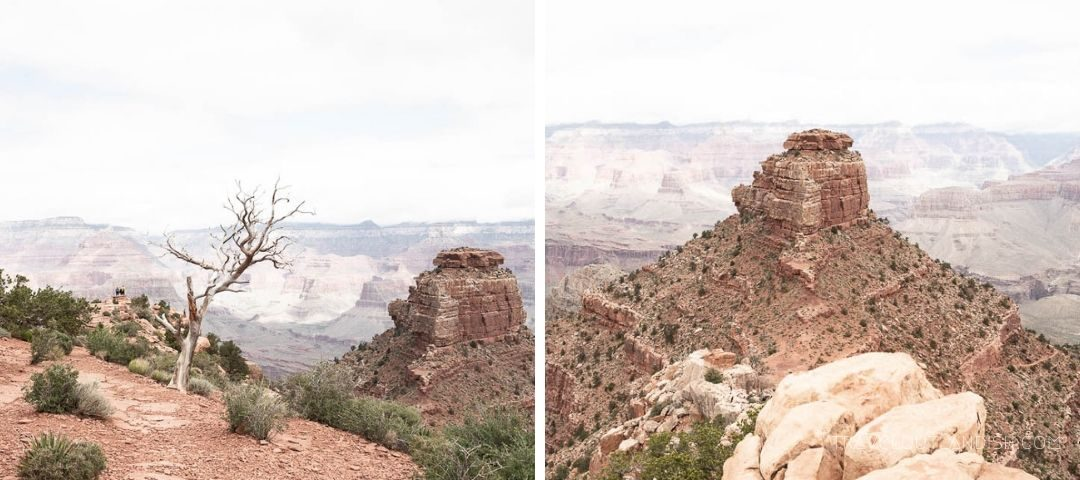 Viewpoints along the South Kaibab Trail