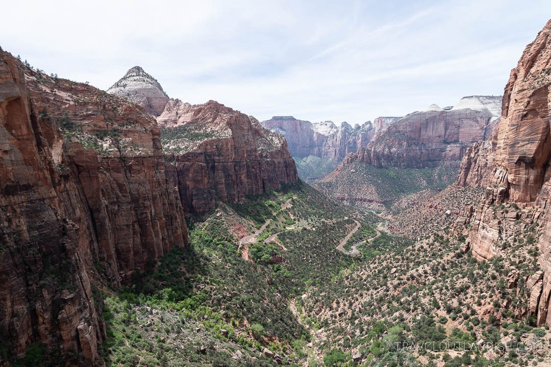 Best National Parks in Utah - View of Zion Canyon from Canyon Overlook