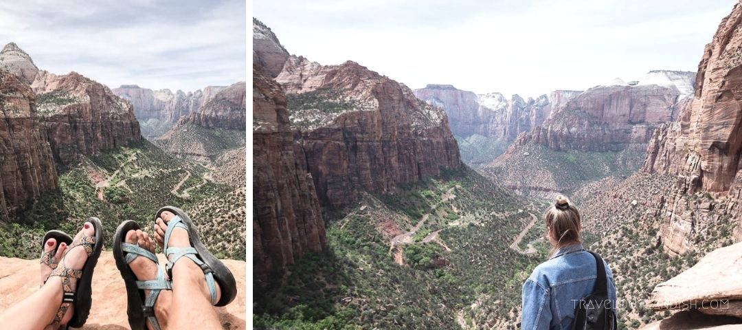 Best National Parks in Utah - Overlooking Zion Canyon in Zion National Park
