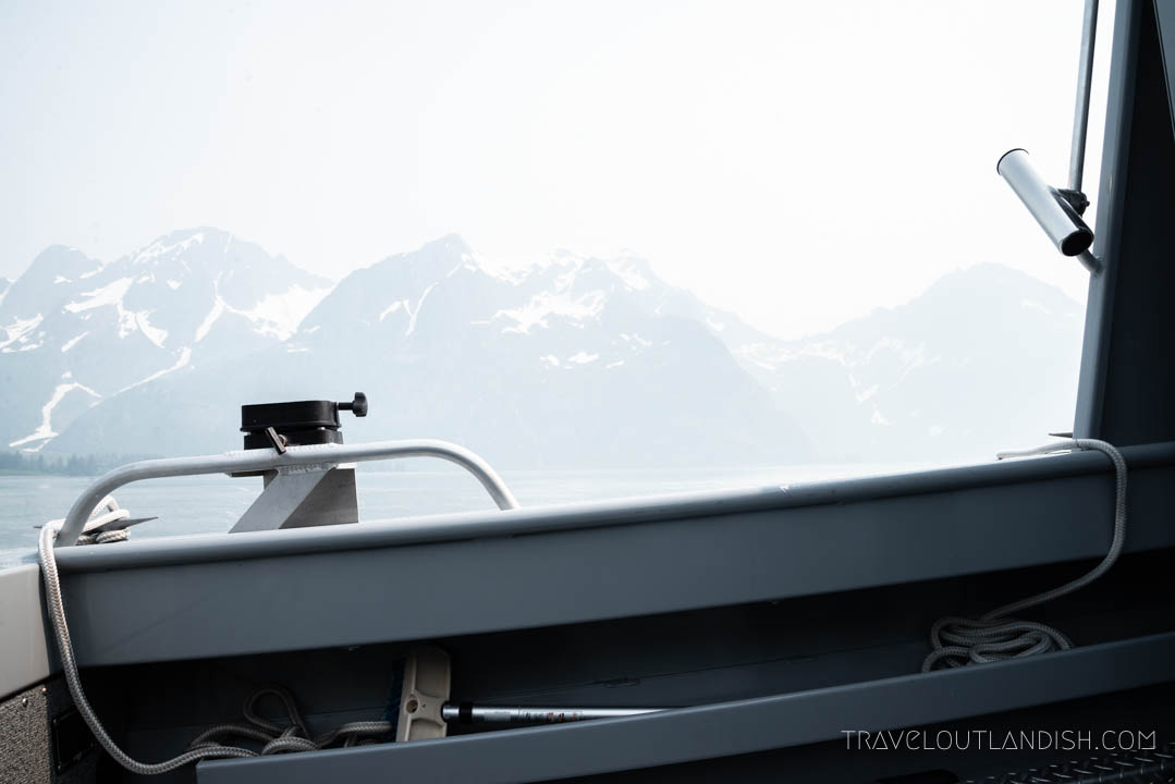 Looking out at the fjords in Kenai Fjords National Park