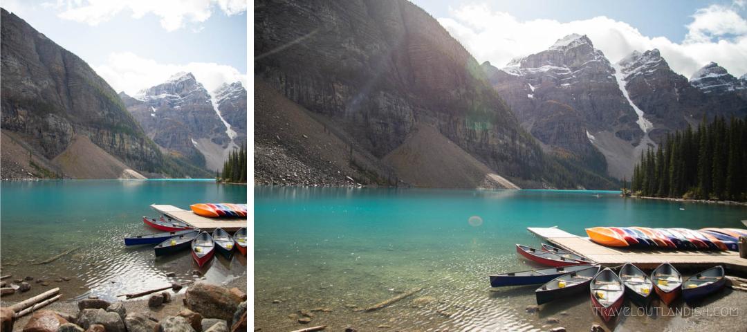 Lakes in Banff - Canoe Rental at Moraine Lake