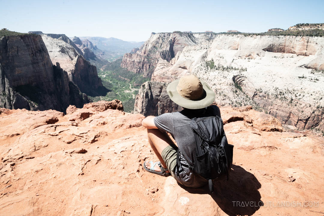 Jake overlooking Zion Canyon from Observation Point