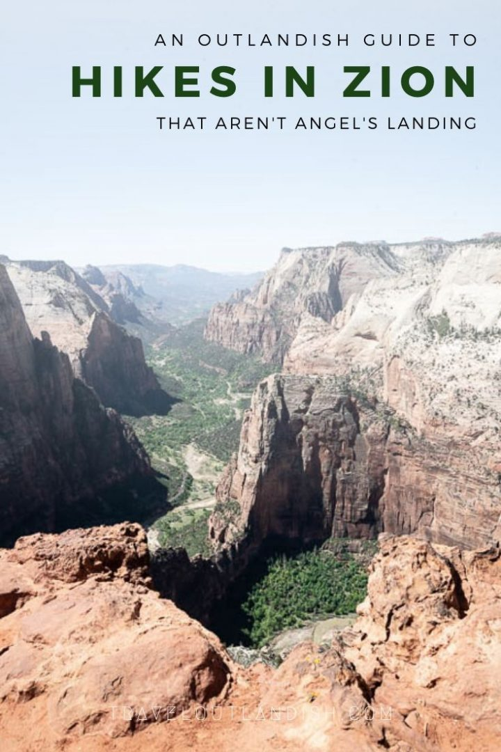 Pinnable image for best hikes and backpacking trips in Zion National Park