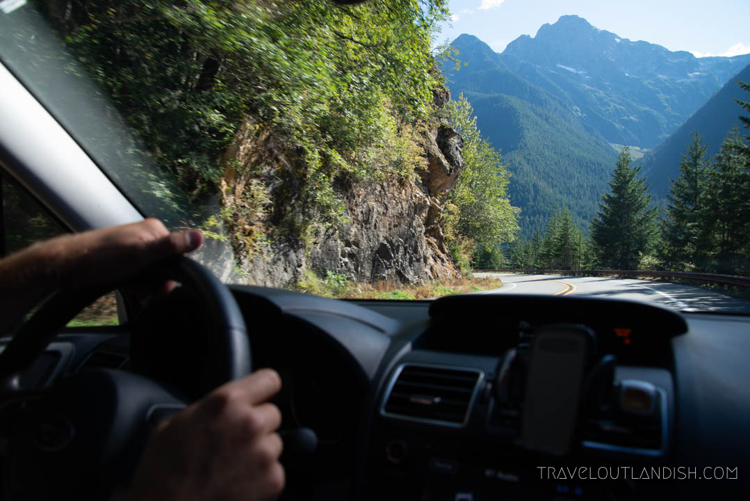 Getting Around - Dashboard of the Car in North Cascades