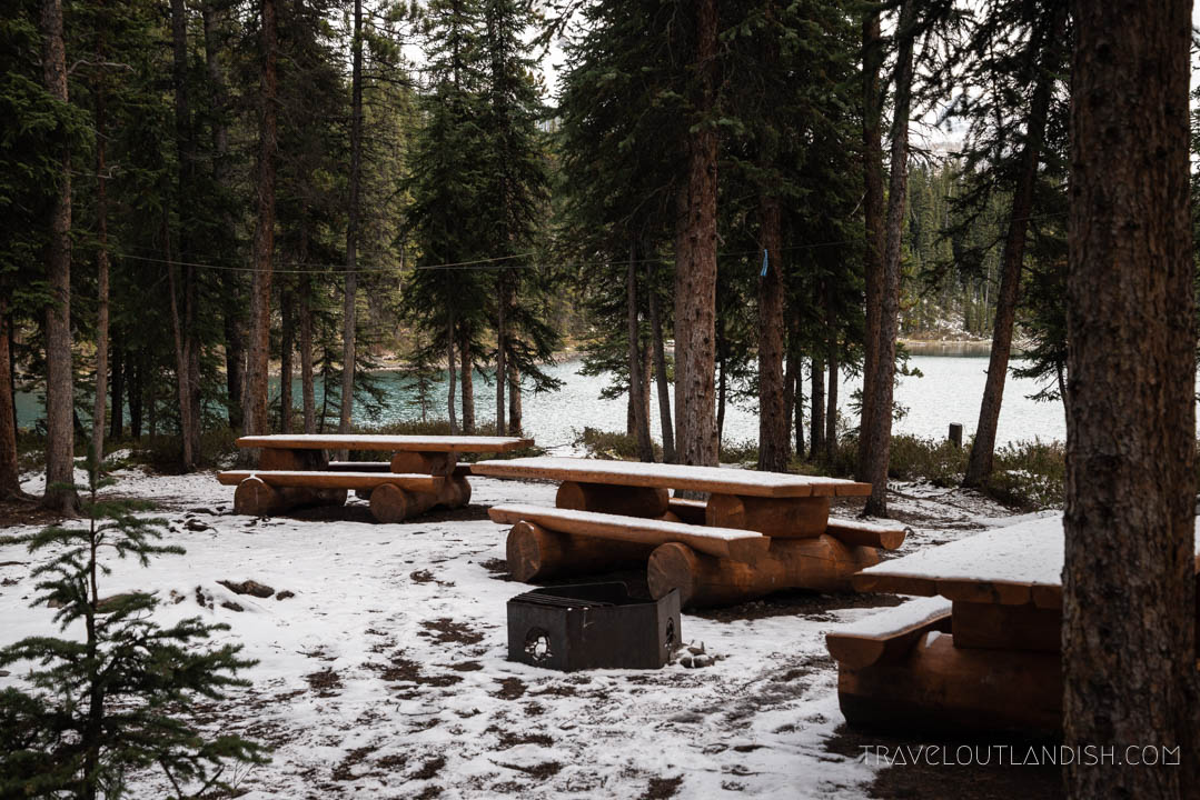 Backcountry campsites in Jasper National Park