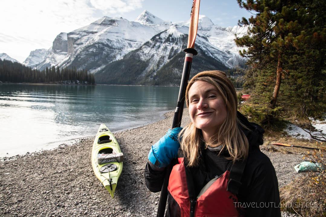Kayaking on Maligne Lake in Jasper National Park