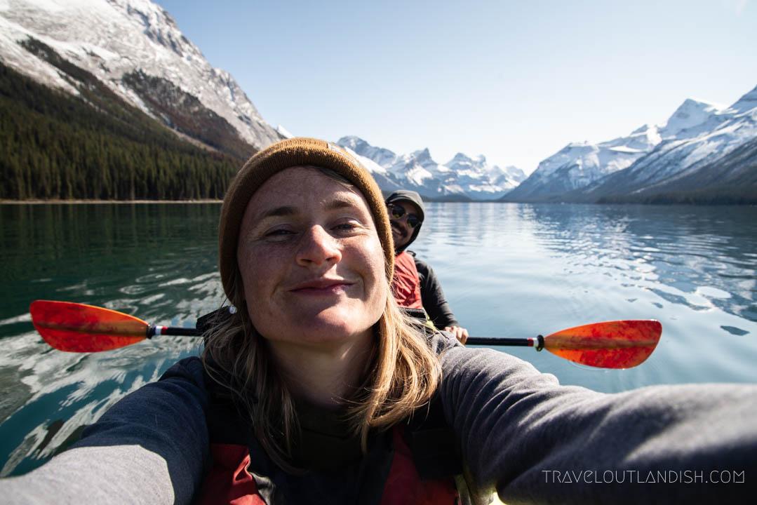 Kayaking on Maligne Lake in Jasper