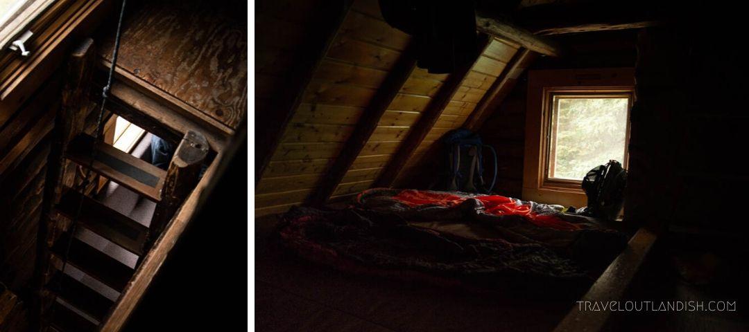 Sleeping loft in Stanley Mitchell Hut