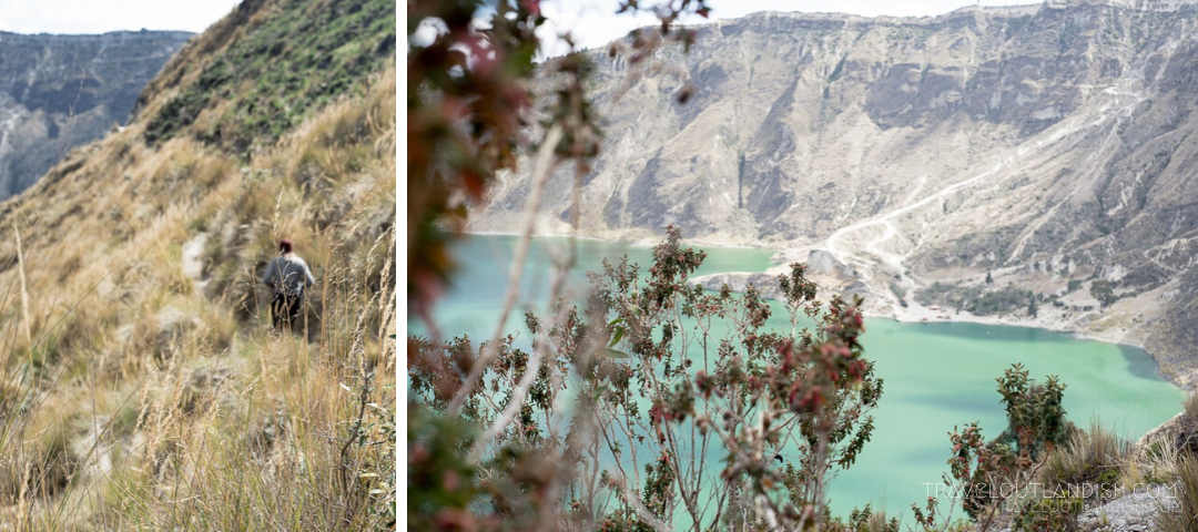 Collage of photos from the Quilotoa Loop trek