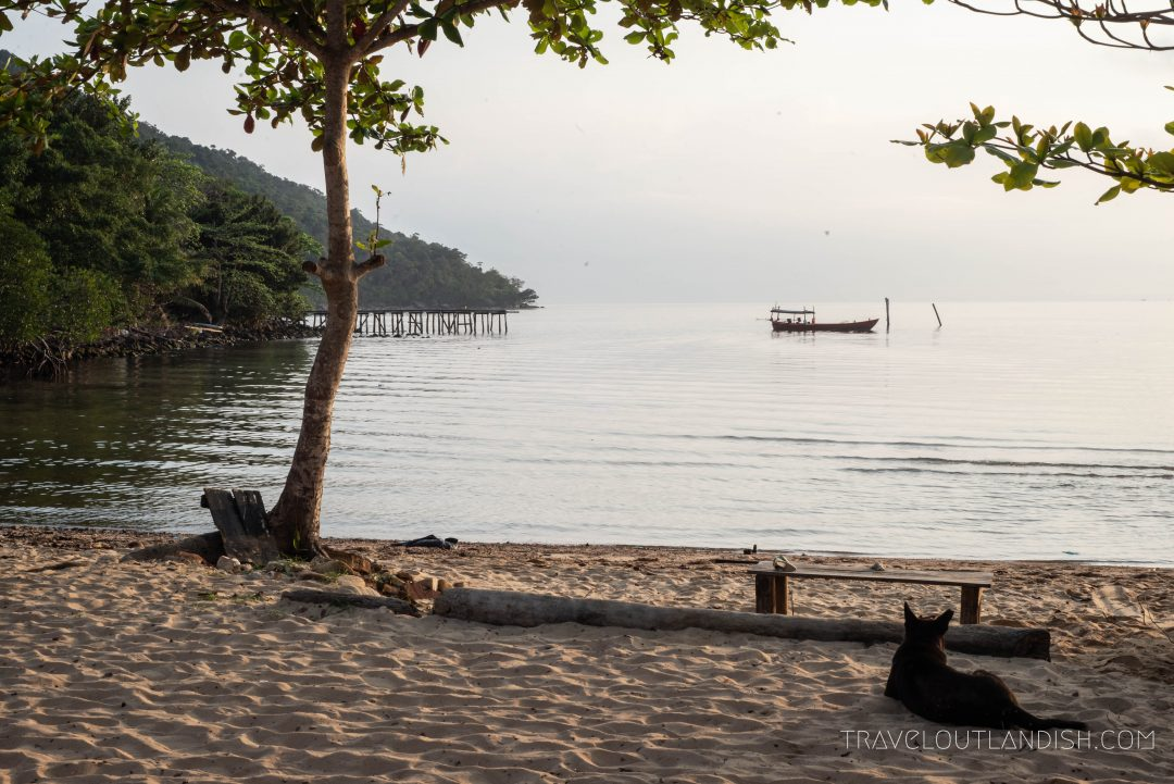 Sunrise from the shore of M'Pai Bay on Koh Rong Samloem
