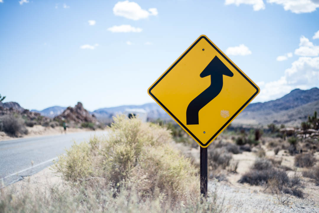 How much does a US National Parks Road Trip Cost? - Road Sign in Joshua Tree National Park