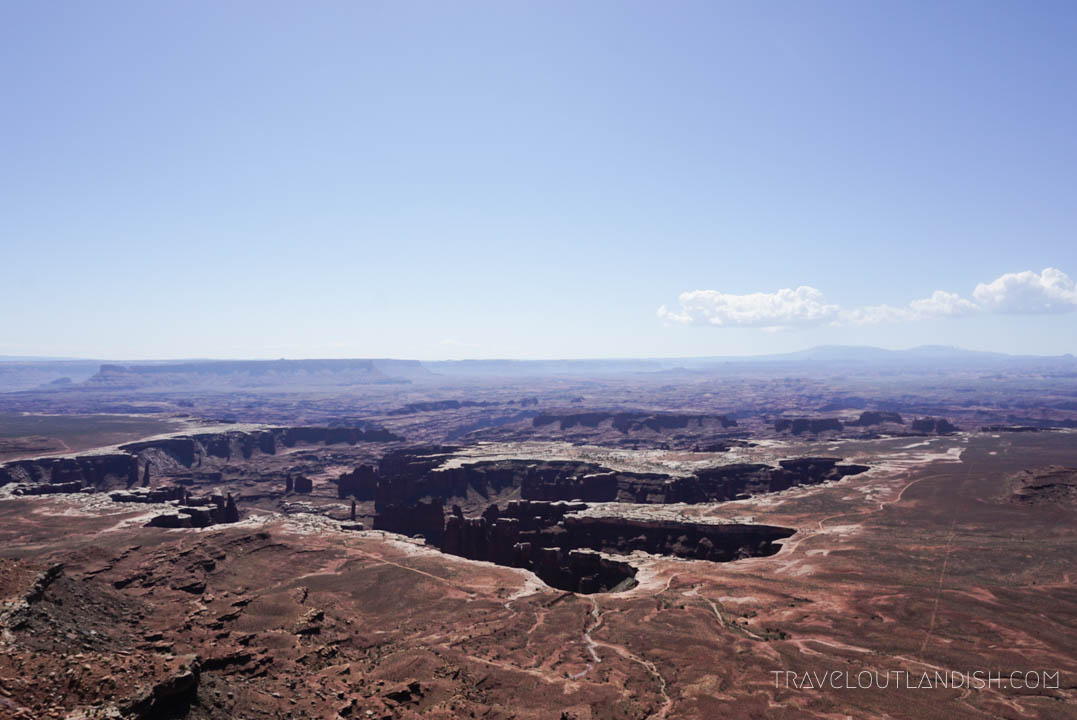 View from Island in the Sky at Canyonlands