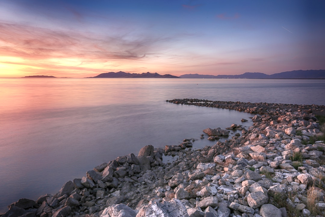 Best State Parks in Utah - Great Salt Lake State Park at Sunset