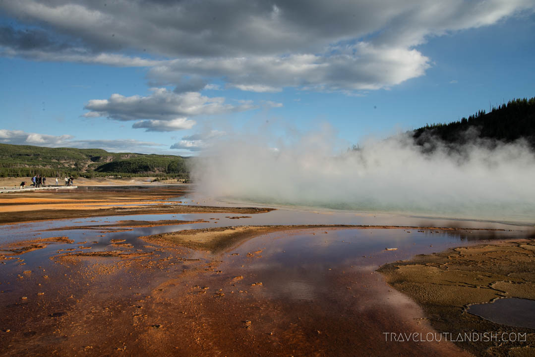 Grand Prismatic Springs in Yellowstone