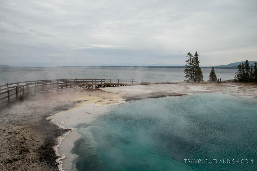 Black Pool at West Thumb is one of the hidden things to do in Yellowstone